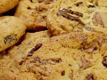 Close-up of chocolate chip cookies