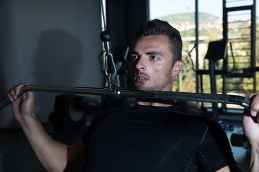 Lat Pulldown Heavy Weight Exercise For Back