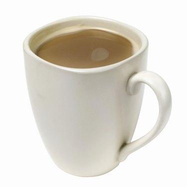 Close up view of a mug of coffee