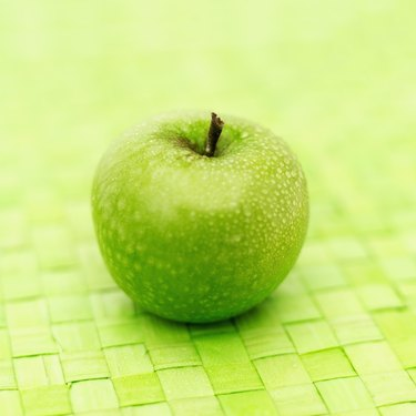Close-up of a green apple