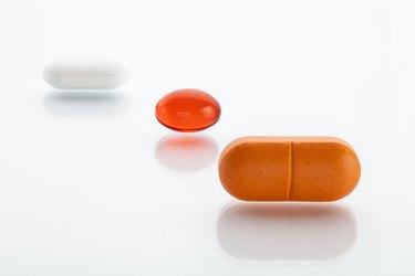 Three various pills