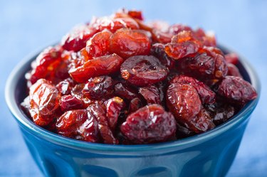 dried cranberries in a bowl