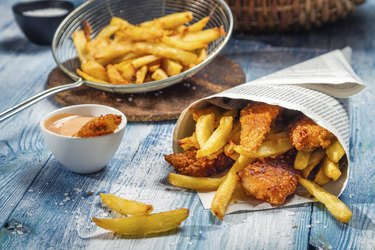 Fish & Chips served in the newspaper