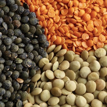 Colorful lentils
