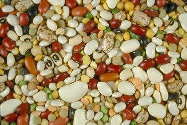 Multicolored legumes