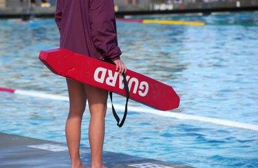 Lifeguard at a pool