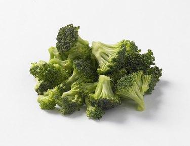 Broccoli florets, close up