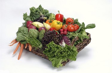 Fresh salad and vegetables