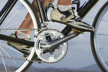 Cyclist riding bike