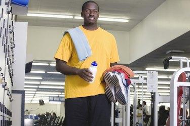 Man walking in gym