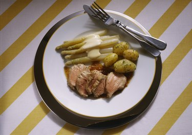 Fillet of Veal with Asparagus and Potatoes