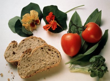 Herbs; Tomatoes & Whole-wheat French Bread