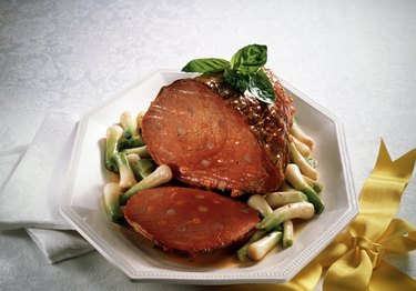 Beef Ham with Spring Onions