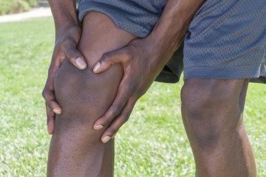 Knee injury closeup