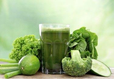 Healthy green juice