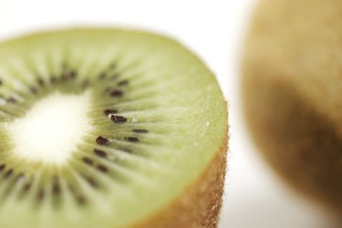 Cross section of an organic kiwi fruit