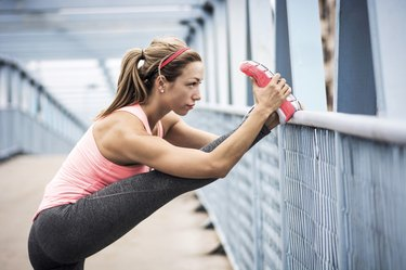 Stretching after workout