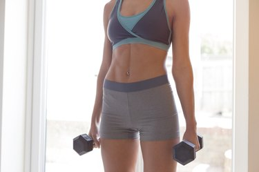 Using dumbbells at home