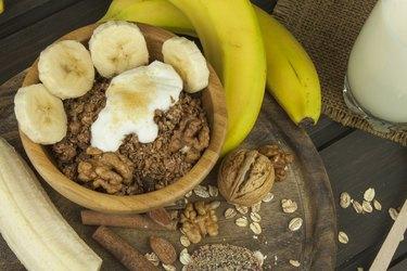 Oatmeal for breakfast.