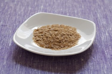 Close-up view of nutritional yeast