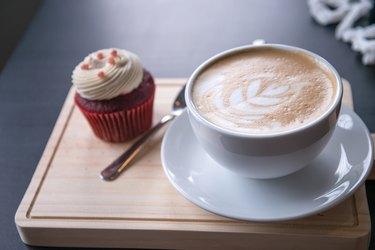Latte Art coffee in coffee shop