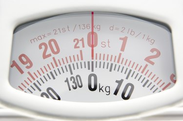 Close Up Of Bathroom Scales' Dial