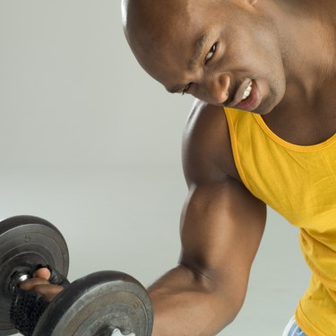 Man holding weight