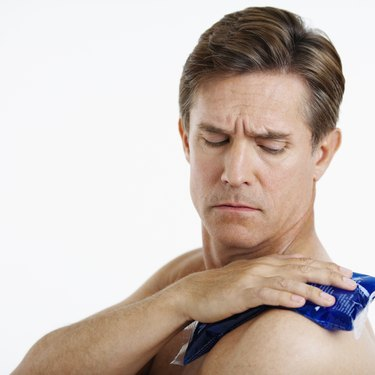 Man with Sore Shoulder