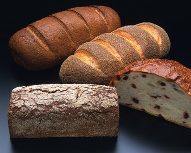 A Variety of Bread, High Angle View