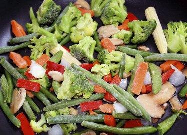 Frozen Vegetables In Skillet