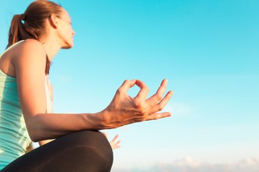 Yoga and blue sky