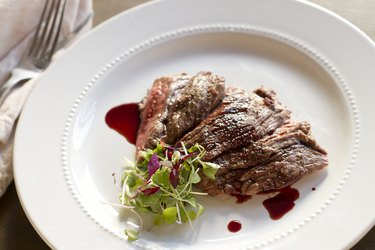 Skirt Steak with Pomegranate Gastrique