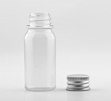 Transparent plastic bottles