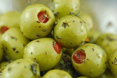 green olives stuffed