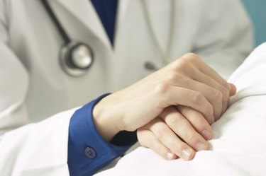 Consoling doctor