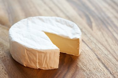 Wheel of brie cheese