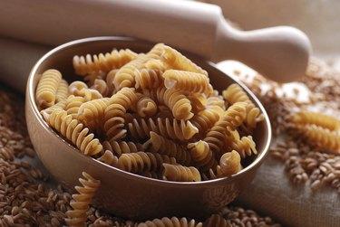 Whole wheat fusilli pasta