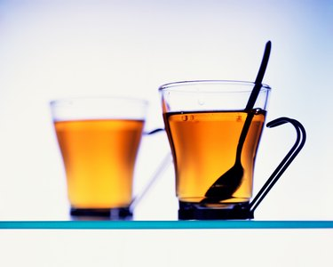 Pair of glass tea cups