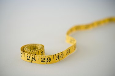 Measuring tape, close up (soft focus)