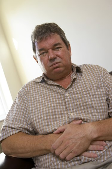 Man with upset stomach