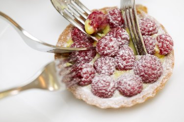 Forks in a berry tart