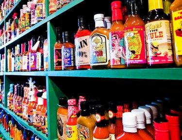 Hot sauces galore