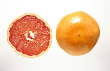 Grapefruit and grapefruit half