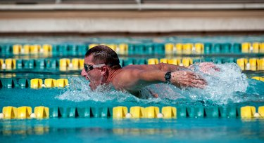 Man in Swim Competition