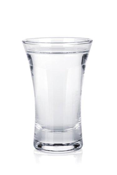 Shot of russian vodka
