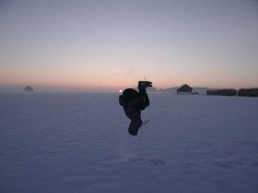 Backflip in the snow