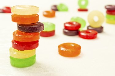 colored hard candies