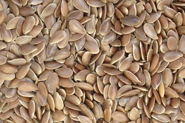Flax seeds background