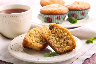 Bran and raisin muffins