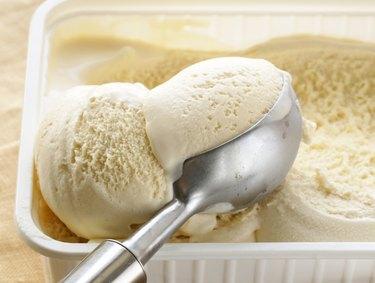 creamy vanilla ice cream
